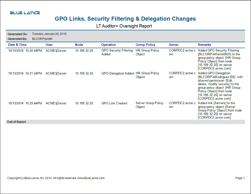 GPL links, security filtering & delegation changes