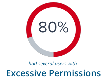 80% have several users with Excessive Permissions