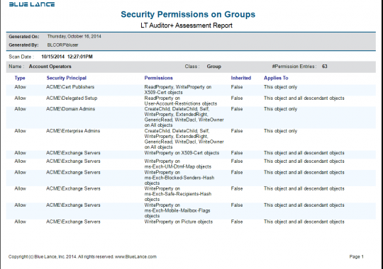 Assessment - Security Permissions on Groups