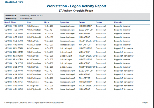 Workstation - Login Activity
